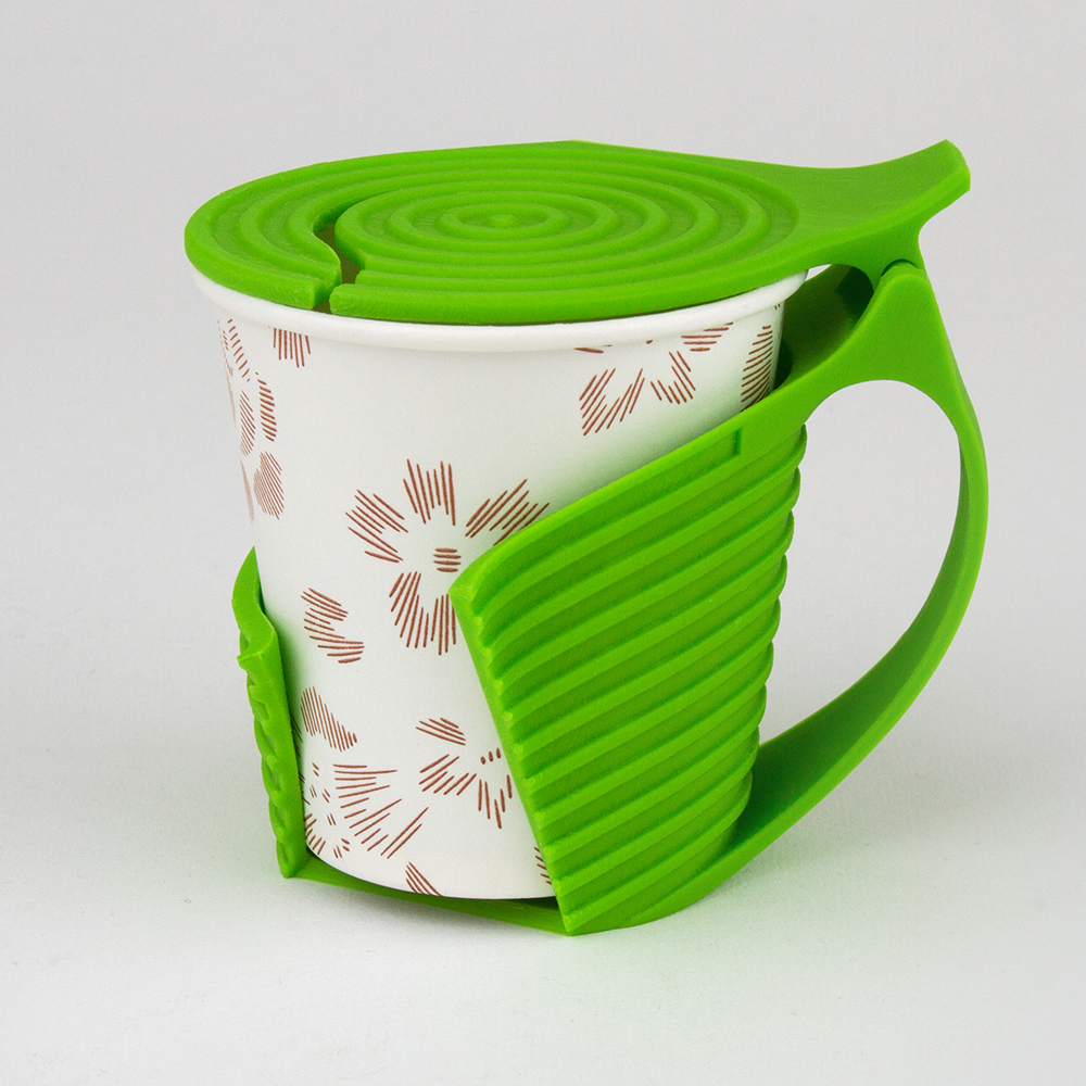 Handle type paper cup holder