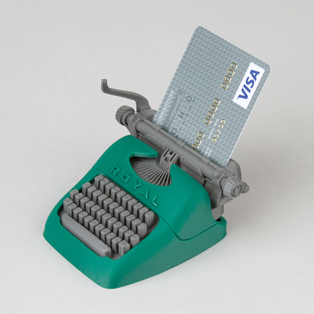 EU & US version - Typewriter shape Name card or CF card Holder