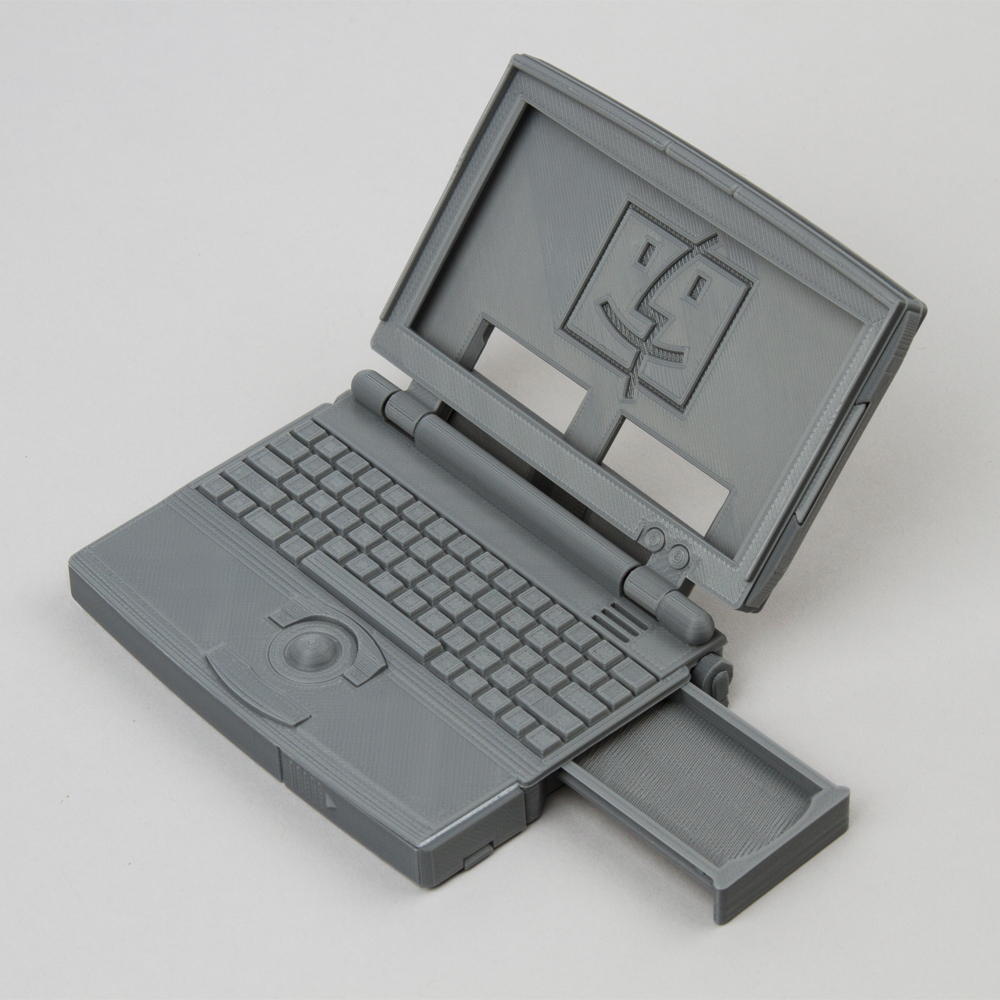 Name card and SD card holder - Apple powerbook