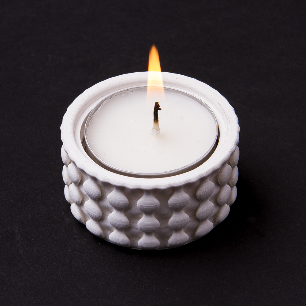 Tea Light holder - bobble knit pattern